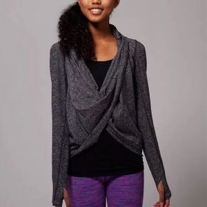 Ivivva/Lululemon Gray Four Count Shrug Wra…